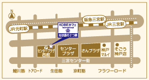 KOBE Coffee international's map